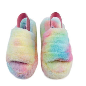 WARMNESS-02  Women's Fluff  Slide Slipper - Comfortable Sandal