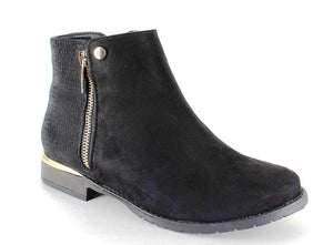 BENSON-02 Women's Comfy Side zip Booties - ShoeTimeStores