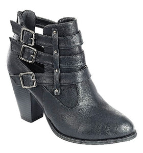 CAMILA-62 Women's Fashion Chunky Heel Bukle Strap Booties - ShoeTimeStores