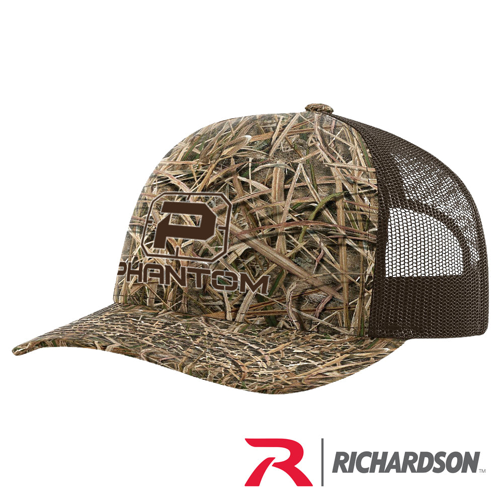 PHANTOM BLADES CAMO RICHARDSON STRUCTURED TRUCKER HATS
