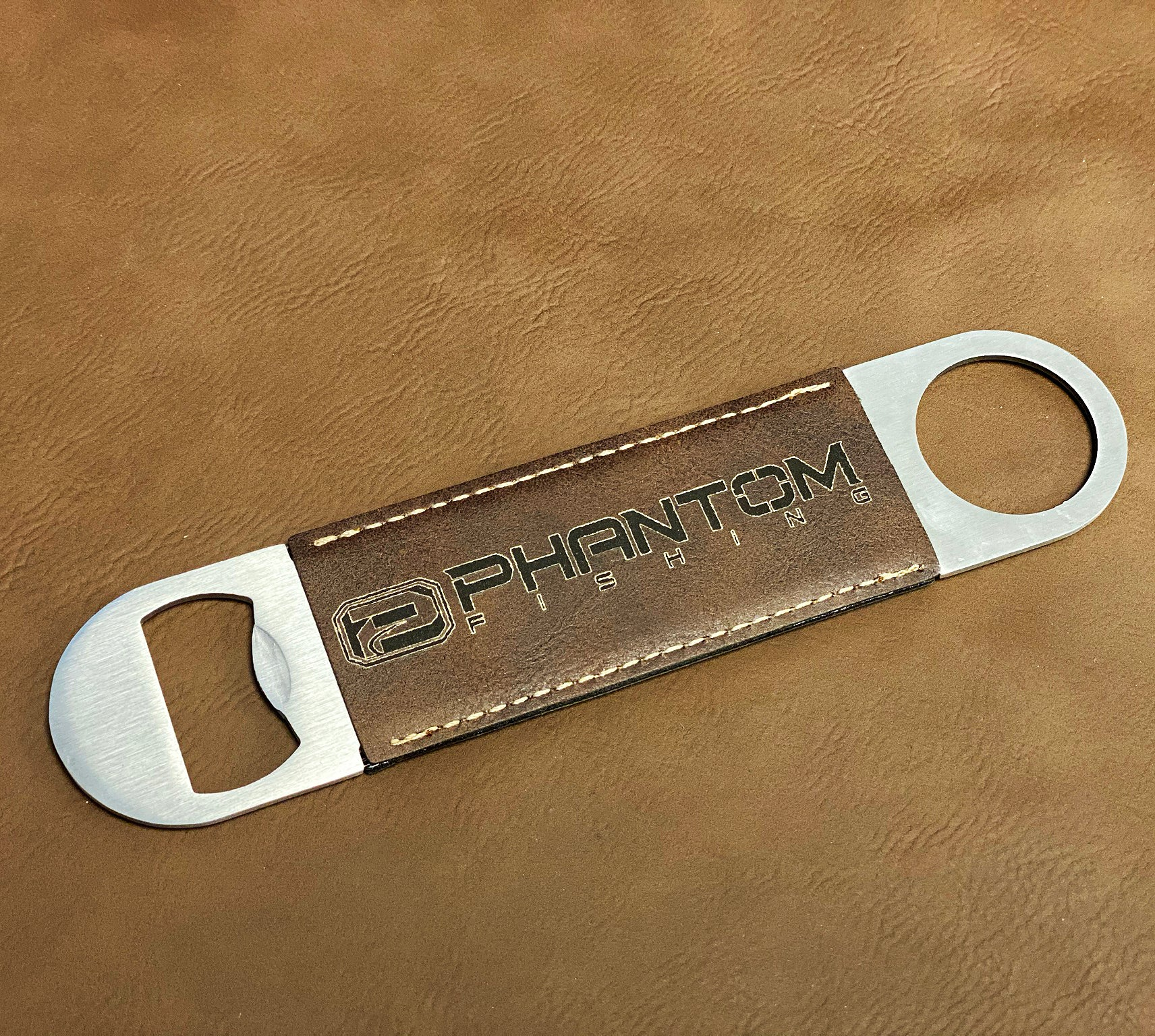 Phantom Outdoors Leather Bottle Opener
