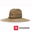 Richardson Leather Patch Straw Hat
