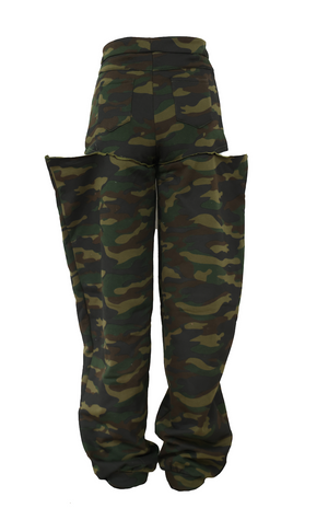 BOY SHORT SWEATS ARMY FATIGUE