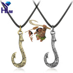 Maui Fishing Hook Pendant with Leather Rope