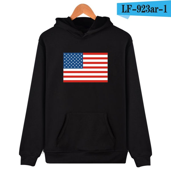 America Flag Cotton Hooded Sweatshirts
