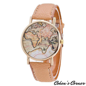 Continental Global QuartzDial Faux Leather Strap Wrist Watch - Continental global