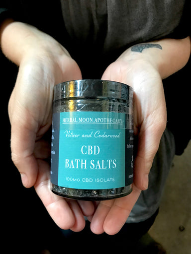 CBD Bath Salts • Vetiver + Cedarwood • 100mg