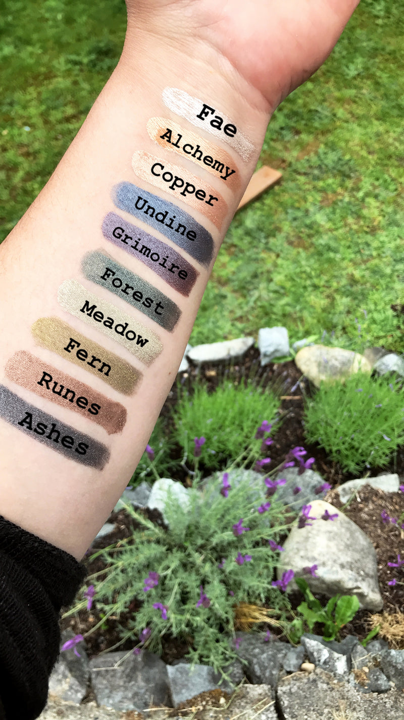 Mineral Eyeshadow - ASHES •  plant-based makeup, vegan