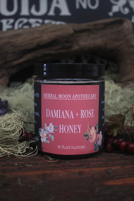 Damiana + Rose Honey • large jars