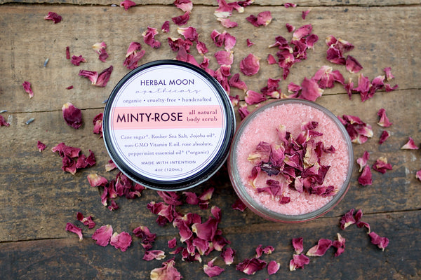 Minty Rose body scrub