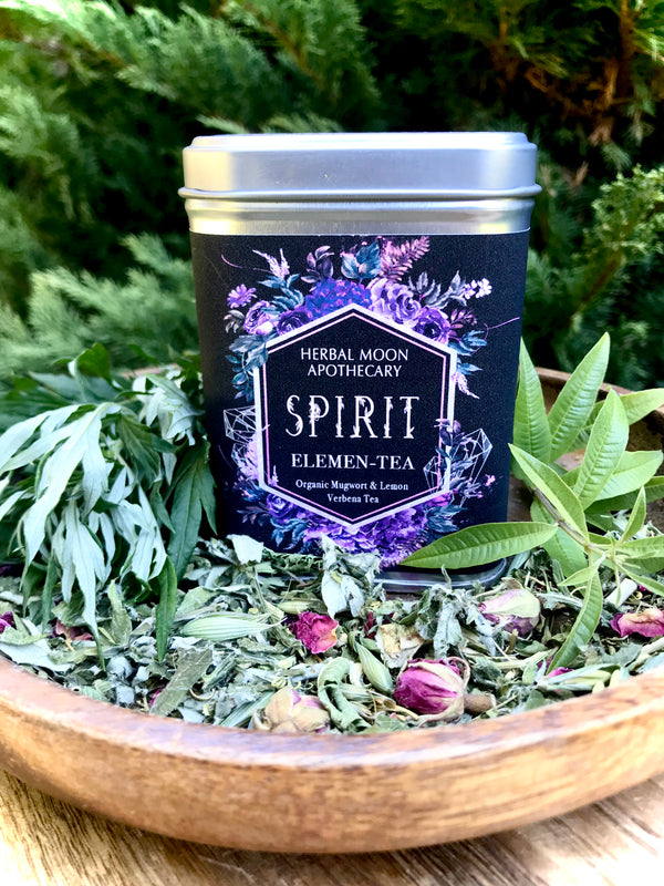SPIRIT Elemen-Tea: organic mugwort + lemon verbena tea