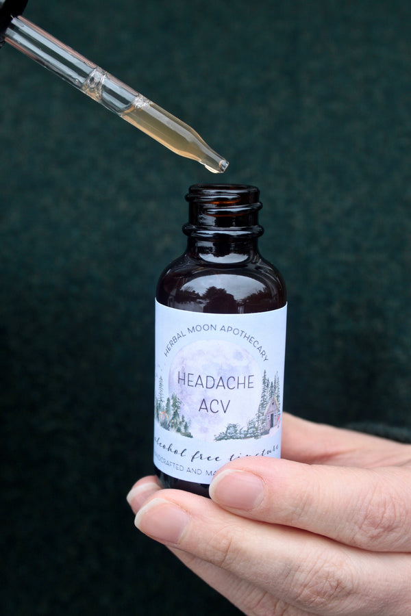Headache ACV Tincture • alcohol-free + vegan