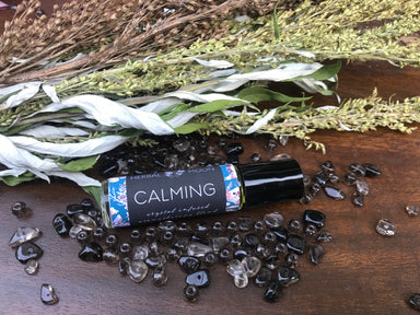 CALMING • Crystal Infused Aromatherapy Blend