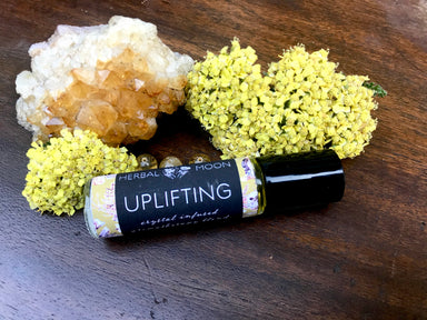 UPLIFTING • Crystal Infused Aromatherapy Blend
