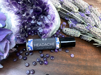 HEADACHE • Crystal Infused Aromatherapy Blend