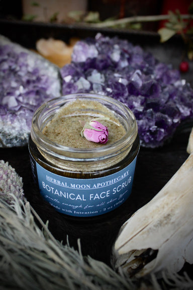 Botanical Face Scrub • raw honey + local sea mud
