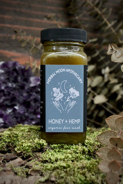 Honey + Hemp • organic face wash
