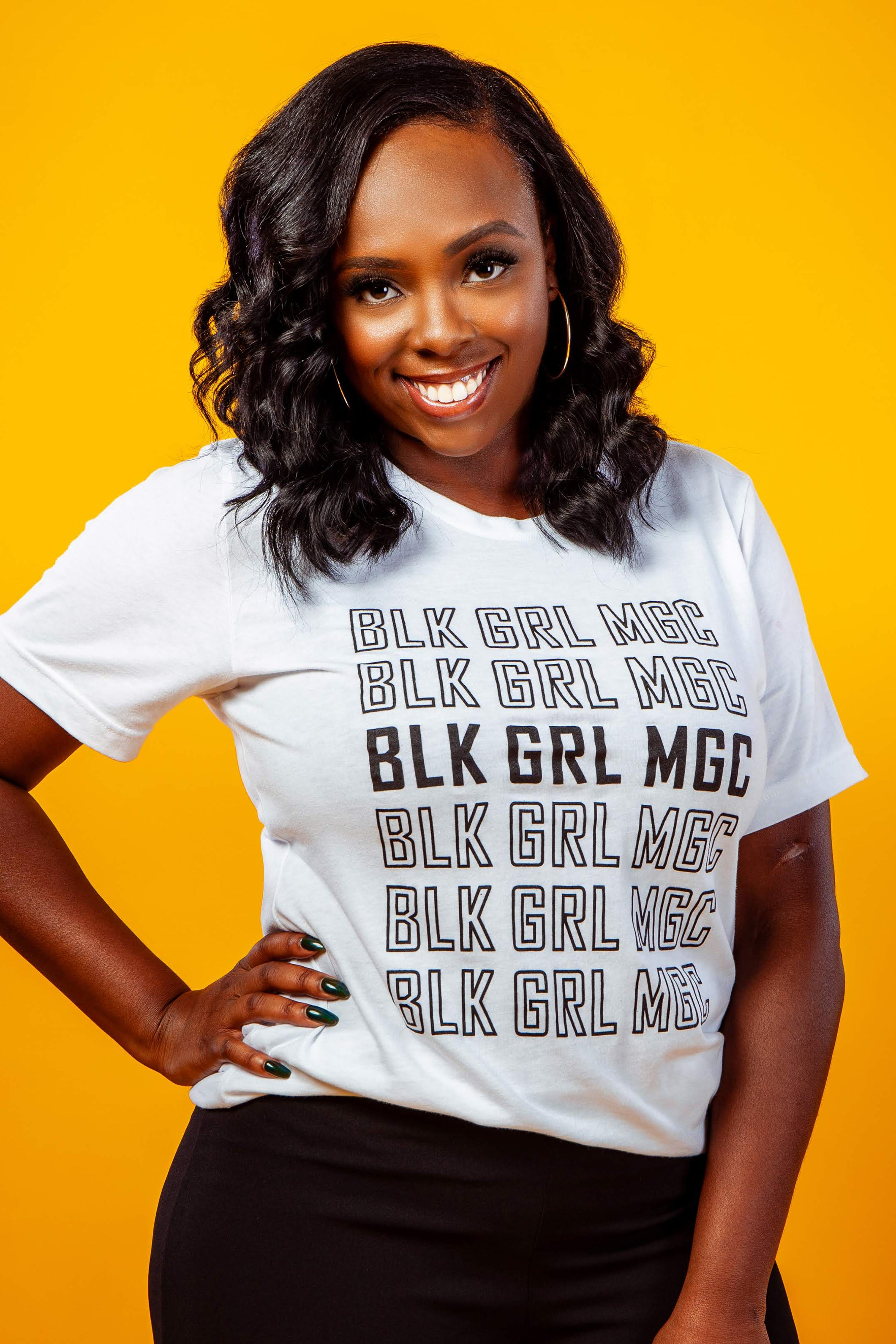 Black Girl Magic - Retro Repeat Unisex Short Sleeve Tee