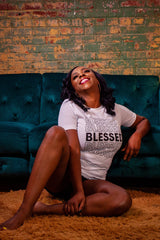 BLESSED Retro Repeat Unisex Tee