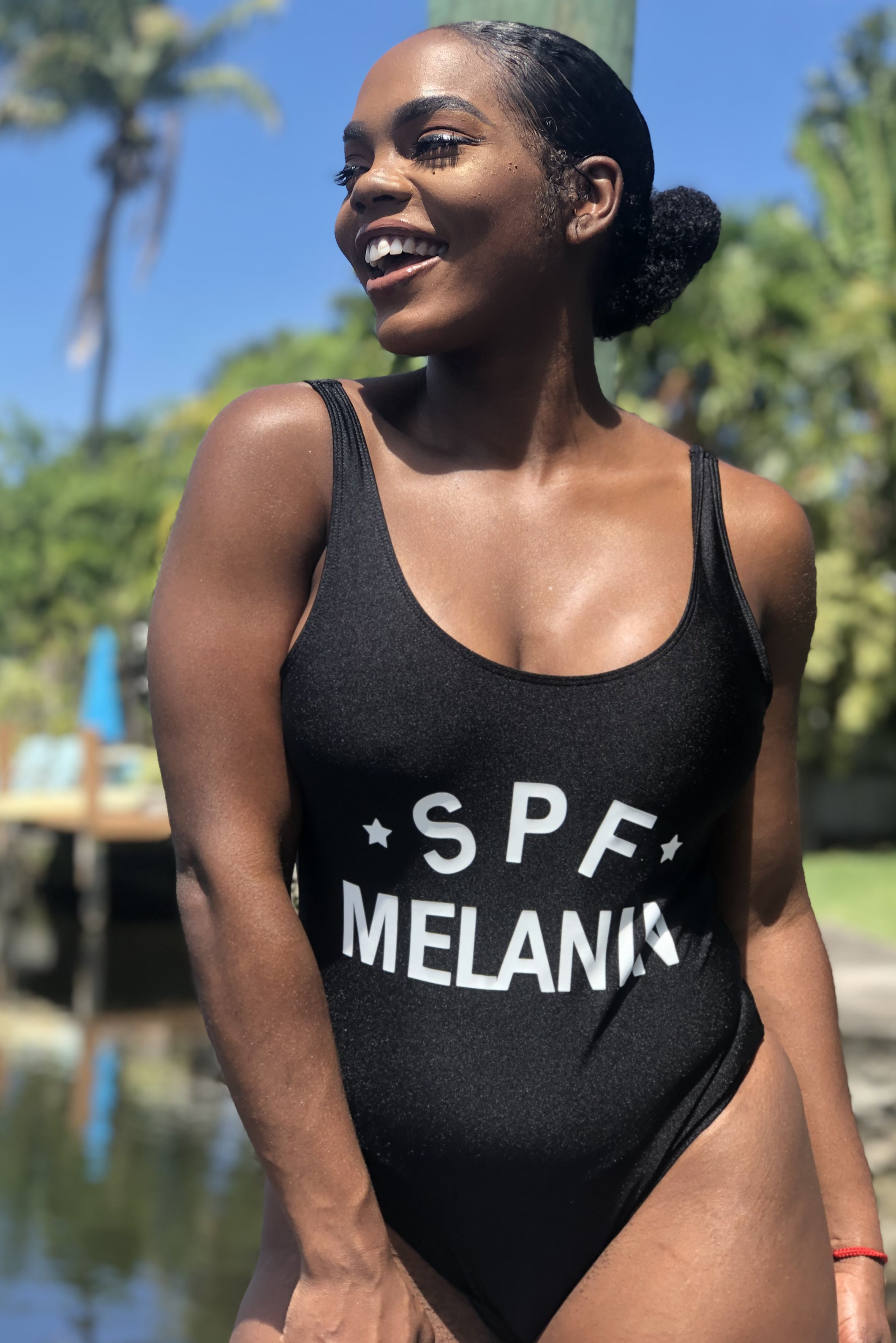 SPF Melanin One-Piece Bathing Suit (Bodysuit)