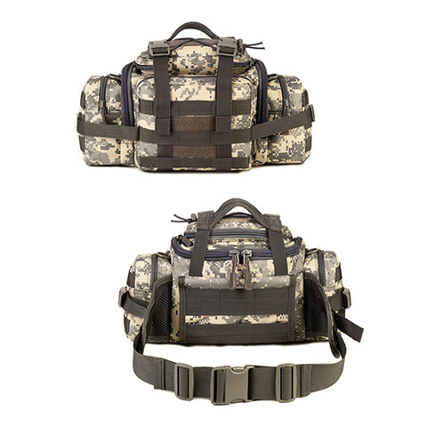 Outdoor Travel Waist Pack Tactical Assault Gear Sling Pack MOLLE Modular Deployment Range Bag Hiking Fanny Pack Fishing Tackles