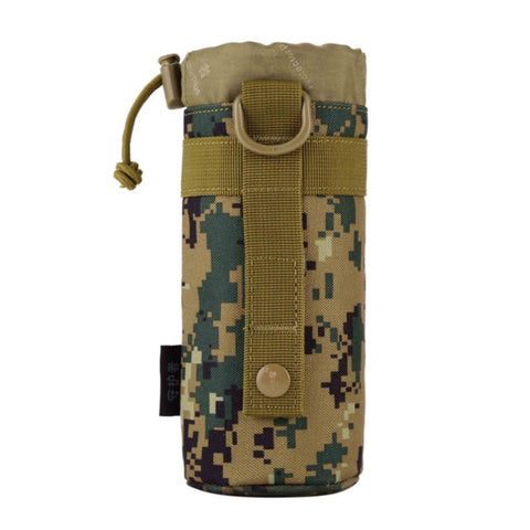 Outdoor Climbing Hiking Tactical Gear Military Molle System Water Bottle Bag Kettle Pouch Holder Sport Bags