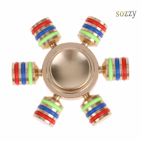 Fidget Spinner Rainbow Metal Finger Hand Spinner Brass Spiner Anti Stress Relieve Toys with Retal Box Spinners For Hands