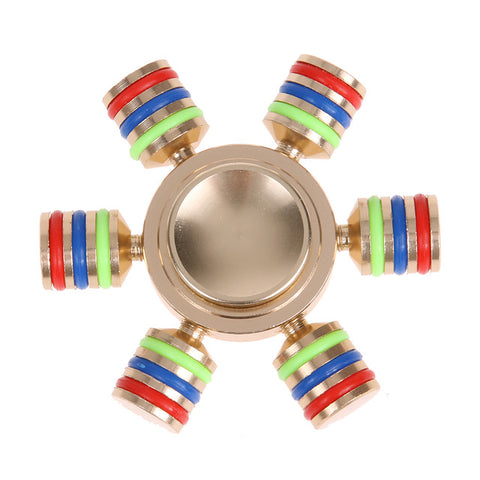 Fidget Spinner Rainbow Metal Finger Hand Spinner Brass