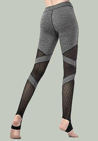 Womens Crisscross Stirrup Workout Leggings High Waist