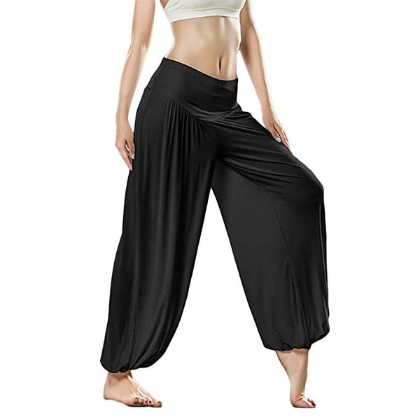 Womens Soft Modal Bloomers Pilates Pants