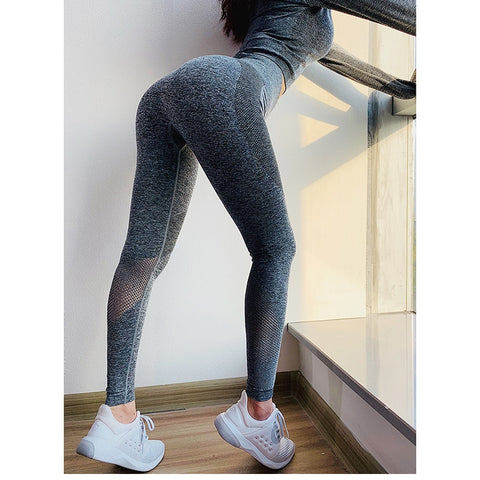 Women Tummy Control High Waist Sport Tights - MISSTLY