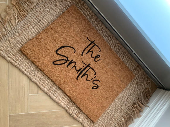 Limited Edition Family Name  Door Mat