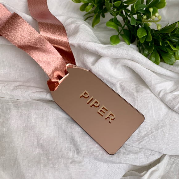 Rose Gold Acrylic Gift Tag