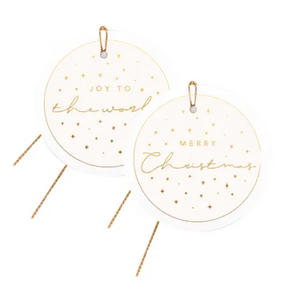 Latte + Gold Christmas Gift Tags