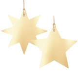 Metallic Gold Gift Tags Star