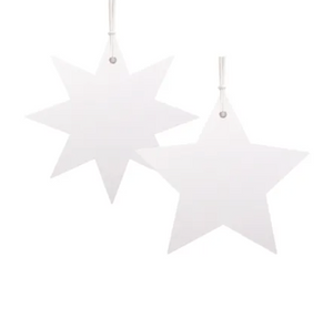 White Gift Tags Star