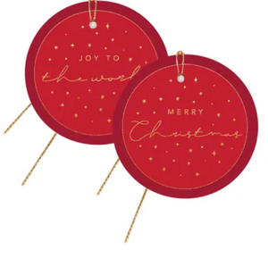 Red + Gold Christmas Gift Tags