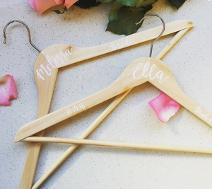 Personalised Wooden Coat Hanger