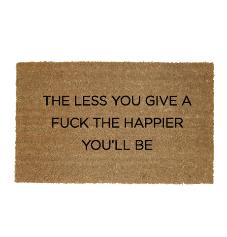The less you give a fuck doormat