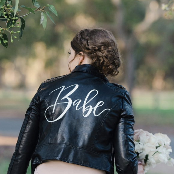 Babe Leather Bridal Jacket Black