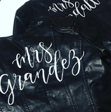 Personalised Mrs *Surname* Bridal Jacket
