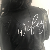 Wifey Leather Bridal Jacket