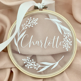 Dainty Name Heirloom Hoop