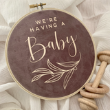 We're Having a Baby Announcement Hoop