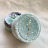 Mint Velvet Monogramed Ring Box