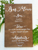 Personalised Bar Menu Sign