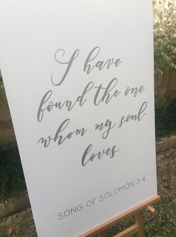 Wooden Wedding Sign / Wedding Quote / Song of Solomon Quote Sign / Religious Wedding