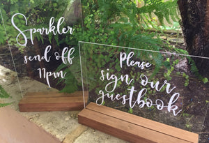 Wooden Block / Stand for Acrylic or Perspex Sign