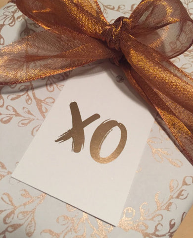 XO Foil Gift Tag