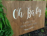 Oh Baby - Baby shower wooden welcome sign